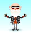 Rock old man vector image