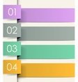 Colored ribbons vector image