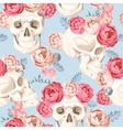 Skulls and roses seamless vector image