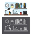 Workspace and office concept vector image