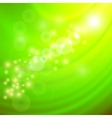 Abstract Light Green Wave Background vector image