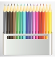 Box of pencils on white background vector image