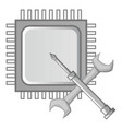 electronics repair icon monochrome vector image