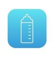 Feeding bottle line icon vector image