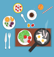 flat breakfast vector image