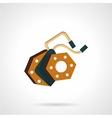 Flat icon e-bike element vector image
