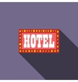 Hotel sign icon flat style vector image