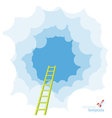 Ladder to the sky template vector image