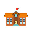 school building isolated on a white background vector image