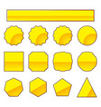 set of gold stamp vector image