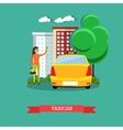 Taxicab concept flat design vector image