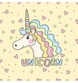 Funny pattern unicorn vector image