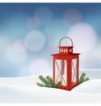 Christmas greeting card invitation Winter scene vector image