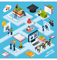 Webinar Isometric Composition vector image