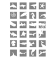 marine mammals icons vector image vector image