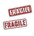 Realistic rubber stamp Fragile on white background vector image