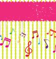 music label design vector image