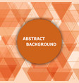 abstract background with orange hexagon template vector image