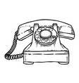 cartoon image of phone icon telephone symbol vector image