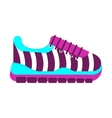color fashionable sneakers vector image