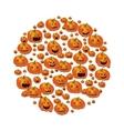 Halloween with pumpkins vector image