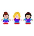 Three funny little girls vector image