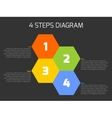 Four steps diagram vector image