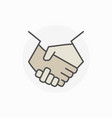 colorful business handshake icon vector image