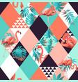 exotic beach rhombus trendy seamless pattern vector image vector image