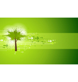 Abstract Green Tree Background vector image
