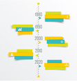 Time Line design template with paper tags vector image vector image