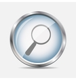 Search Glossy Icon vector image vector image