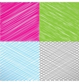 Set of pencil and marker hatching backgrounds vector image