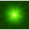 Abstract green glowing background vector image