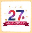 colorful polygonal anniversary logo 2 027 vector image vector image