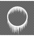 circle frame icicles vector image