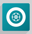 flat video film icon vector image