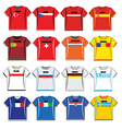 football shirts vector image