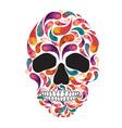 music fan skull vector image