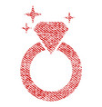 sparkle diamond ring fabric textured icon vector image