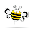 sweet bee cartoon vector image