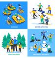 Winter Activity 2x2 Design Concept vector image