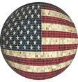 Ball with USA flag vector image