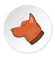 Dog head cartoon style vector image