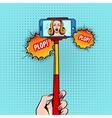 Selfie Stick Sketch Background vector image