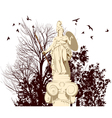 beauty Athena statue vector image vector image