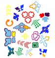 arrow icons and symbols vector image
