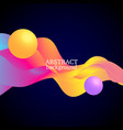 3 d balls and colorful waves vector image