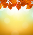 Vintage Autumn Background With Leaves vector image vector image