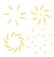 Yellow Ears of Wheat Icon Set vector image